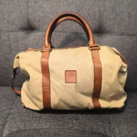 Rare Vintage Fendi Canvas & Leather Bag